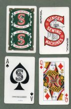 Collectable Advertising  Playing cards Singer sewing machines